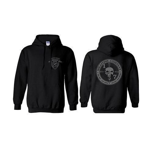 Weapons Co. Black Hoodie - Gray Print