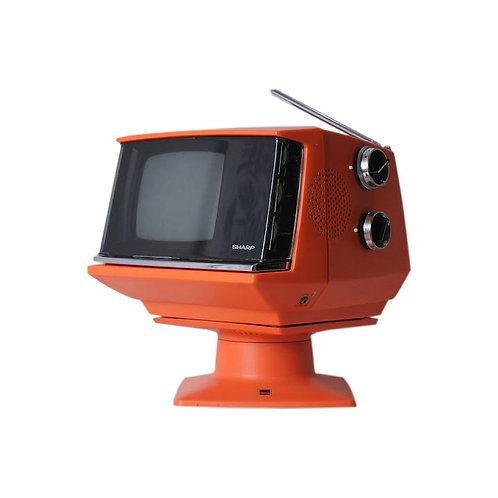 Vintage 1972 Mod Portable TV