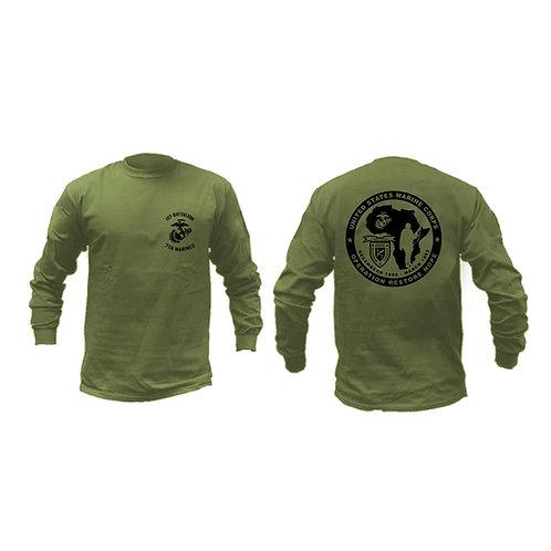 1st Bn 7th Mar Somalia Long Sleeve - OD