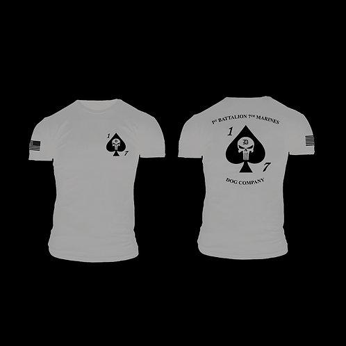 Dog Co. 1/7 Short Sleeve T-Shirt - Sport Gray Shirt Black Ink