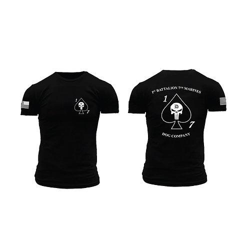 Dog Co. 1/7 Short Sleeve T-Shirt - Black Shirt White Ink