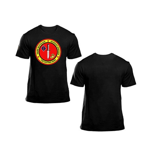 3/7 Front Logo Black T-Shirt