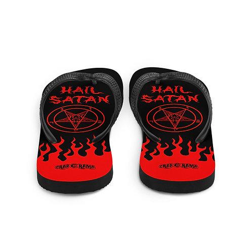 Hail Satan Flip Flops