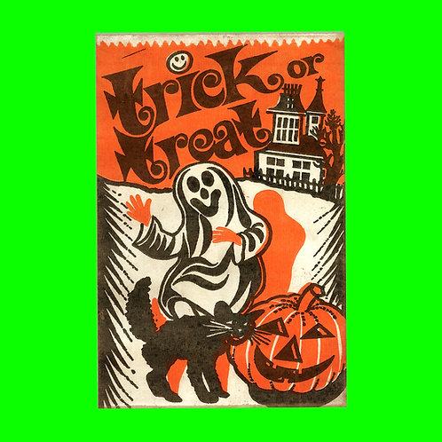 Halloween Banner - Trick or Treat Ghost