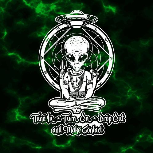 Aliens on Acid Tie-Dye T-Shirt