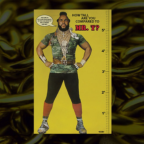 Mr. T Lifesize Growth Chart