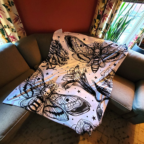 Death Head Moths Blanket
