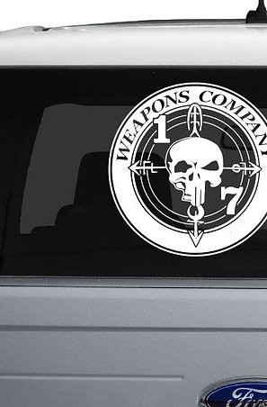 "10"" 1/7 Weapons Co. Glass Decal"