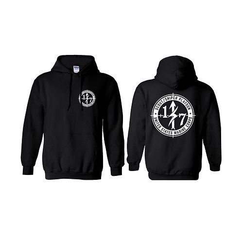 Scout Snipers Black Hoodie - White Print