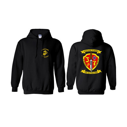 3/7 Color Shield Pullover Hoodie