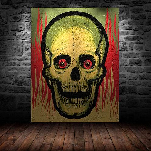 Screaming Skull Vinyl Banner