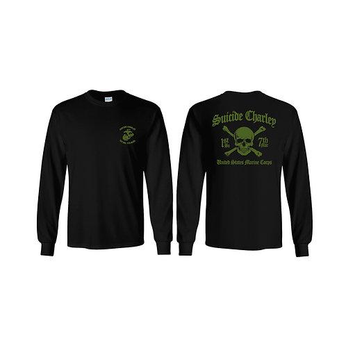 Long Sleeve Black T-Shirt OD INK