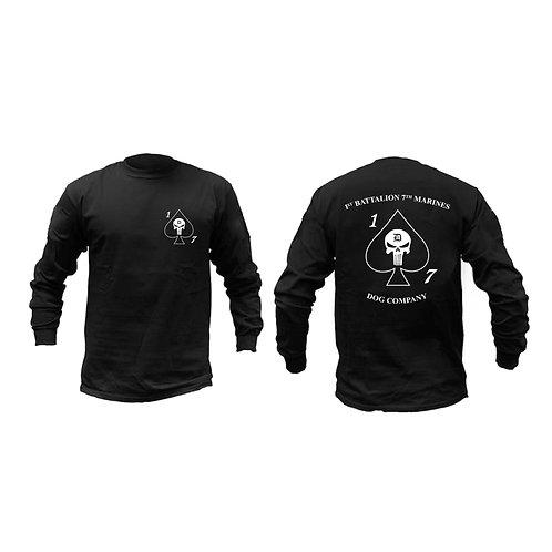 Dog Co. 1/7 Long Sleeve Black T-Shirt