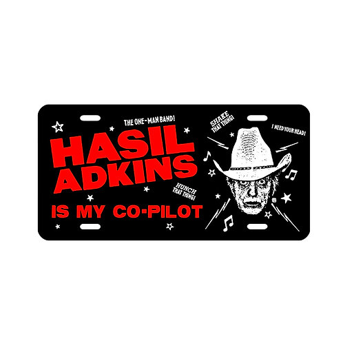 Hasil Adkins License Plate