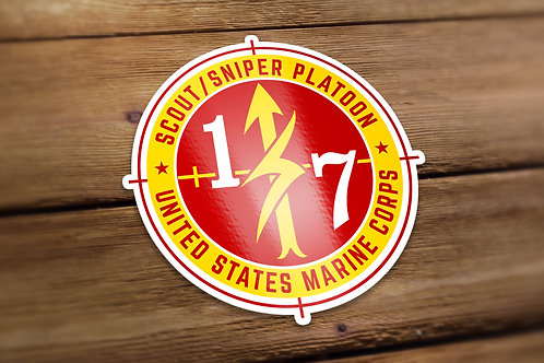 Scout Sniper Red and Gold Decal