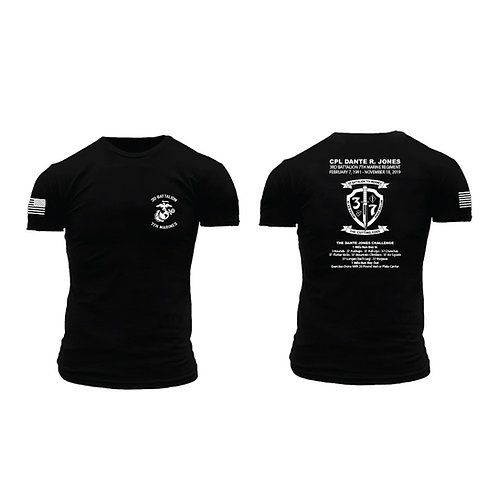 Cpl. Dante Jones Memorial T-Shirt - Black