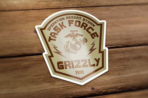 Task Force Grizzly Decal