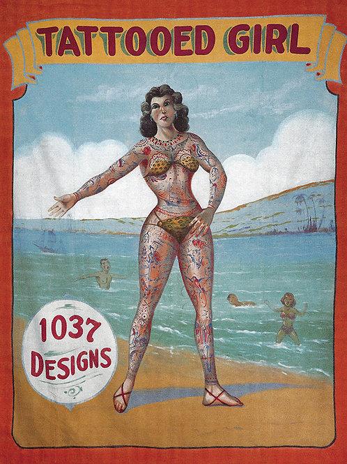 Tattooed Girl Sideshow Banner (1037)