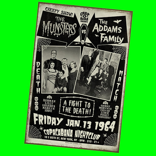 Munsters Vs. Addams Family Poster