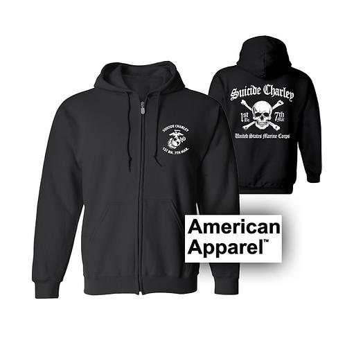 Premium Zippered Black Hoodie