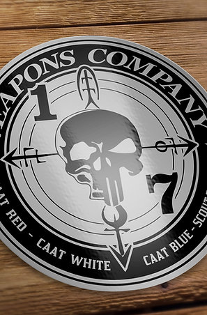 Weapons Black and Gray Decal