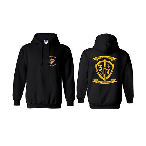 3/7 Gold Shield Pullover Hoodie