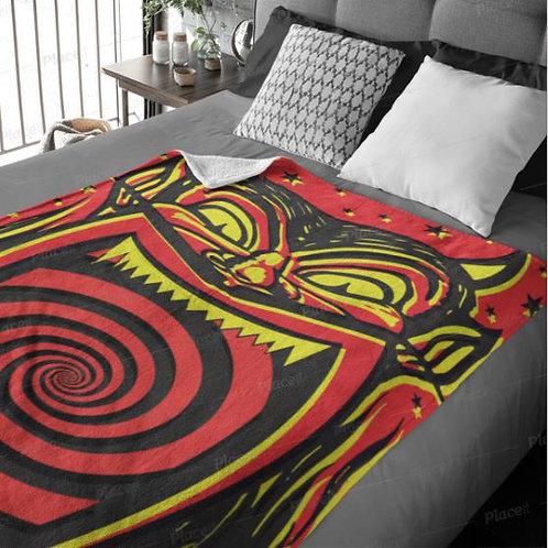 Devil Head Throw Blanket