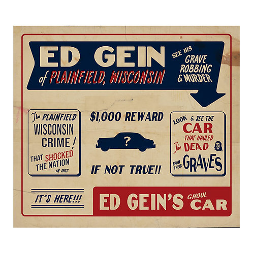 Ed Gein's Ghoul Car Sideshow Banner