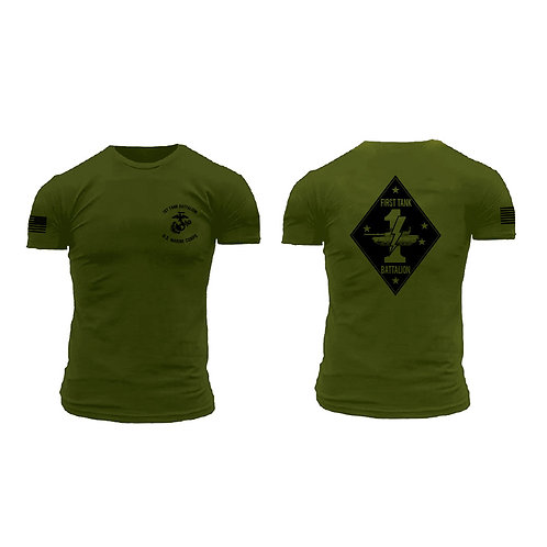 Premium 1st Tank Battalion OD T-Shirt