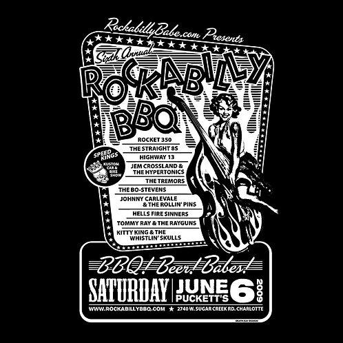 Rockabilly BBQ 2009 T-Shirt (Pinup)