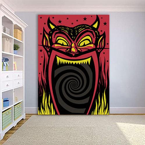 8' Devil Head Wall Version
