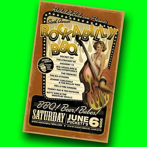 Rockabilly BBQ 2009 Poster