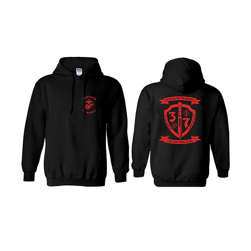 3/7 Red Shield Pullover Hoodie