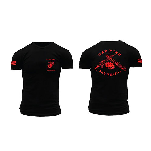 Short Sleeve USMC Martial Arts Instructor T-Shirt