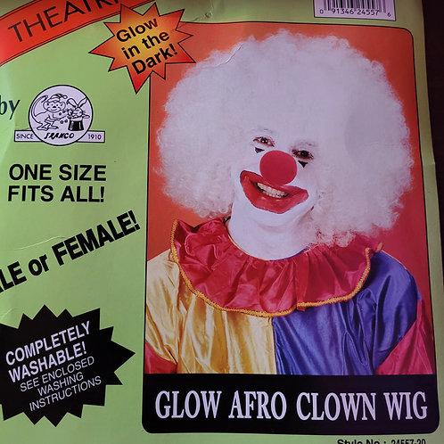 Glow-in-the-Dark Afro Clown Wig