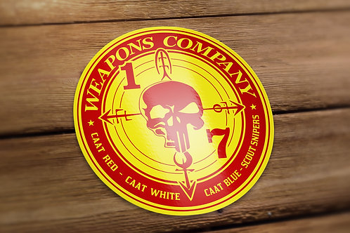 Weapons Red and Gold Decal