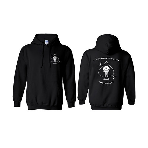 Dog Co 1/7 Black Pullover Hoodie - White Ink