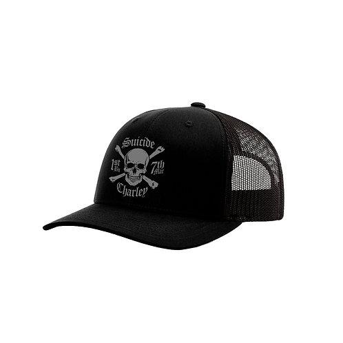 Black on Black Mesh Ball Cap