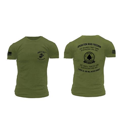 Premium Brand Memorial Short Sleeve OD T-Shirt - HMLA-267