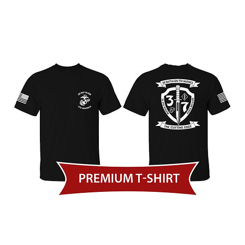 Premium Black 3/7 T-Shirt