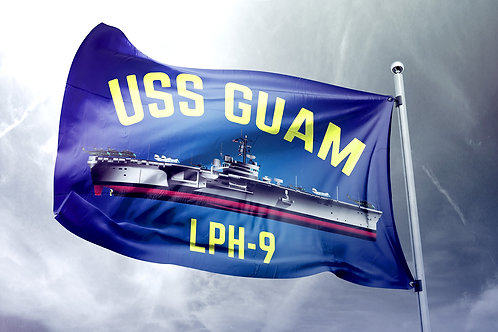 Nylon USS Guam Flag - Ship Art