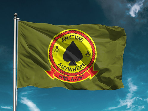 HMLA-267 OD Flag