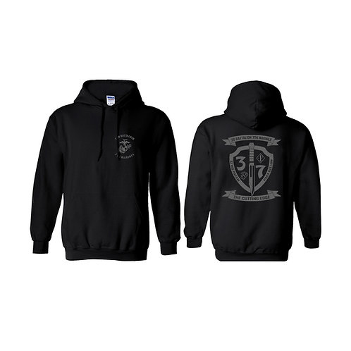 3/7 Gray Shield Pullover Hoodie