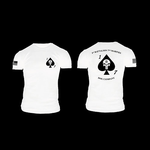 Dog Co. 1/7 Short Sleeve T-Shirt - White Shirt Black Ink