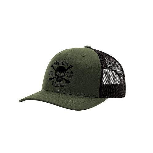 OD and Black Mesh Ball Cap