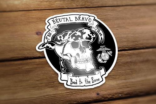 """5"""" Brutal Bravo Vinyl Sticker"""