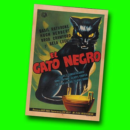 El Gato Negro Vinyl Banner