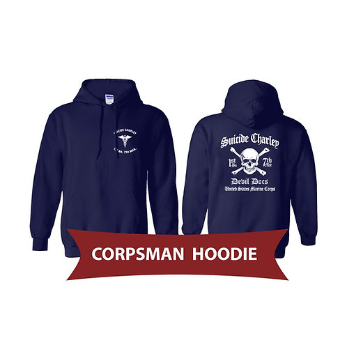 Corpsman Navy Pullover Hoodie