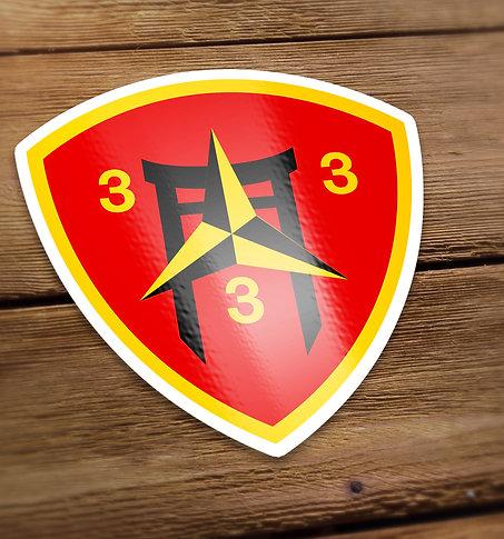 3/3 Simple Logo Decal