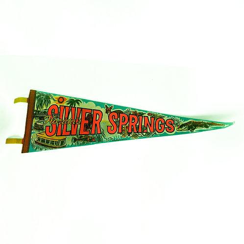 Vintage Silver Springs, FL Felt Pennant